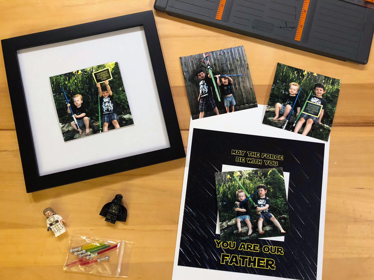 Channeling The Force With Diy Star Wars Father S Day Frame