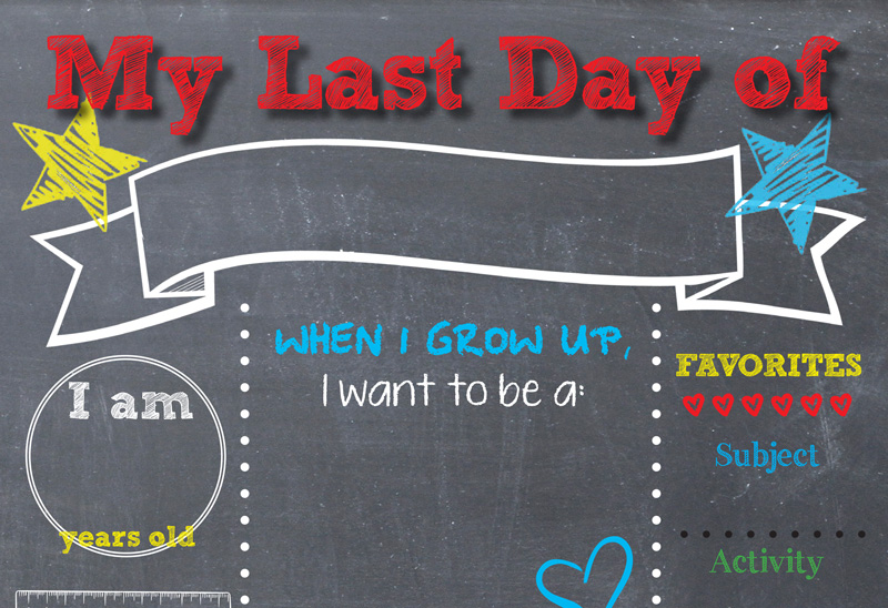 photo relating to Last Day of Kindergarten Printable named Printable Back again-toward-Faculty Chalkboard Indicator #NeverDoneWithFun