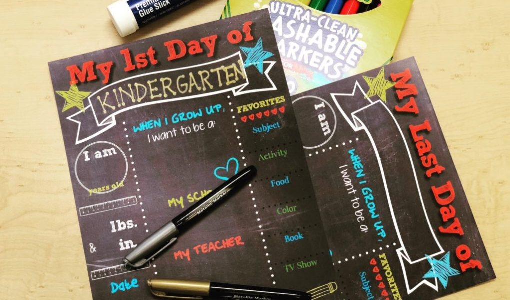 free printable back to school chalkboard milestone sign with 1st day last