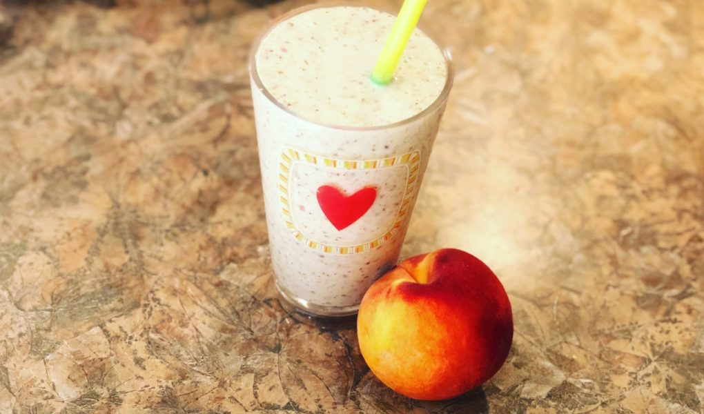 Peaches and Cream Oatmeal Smoothie