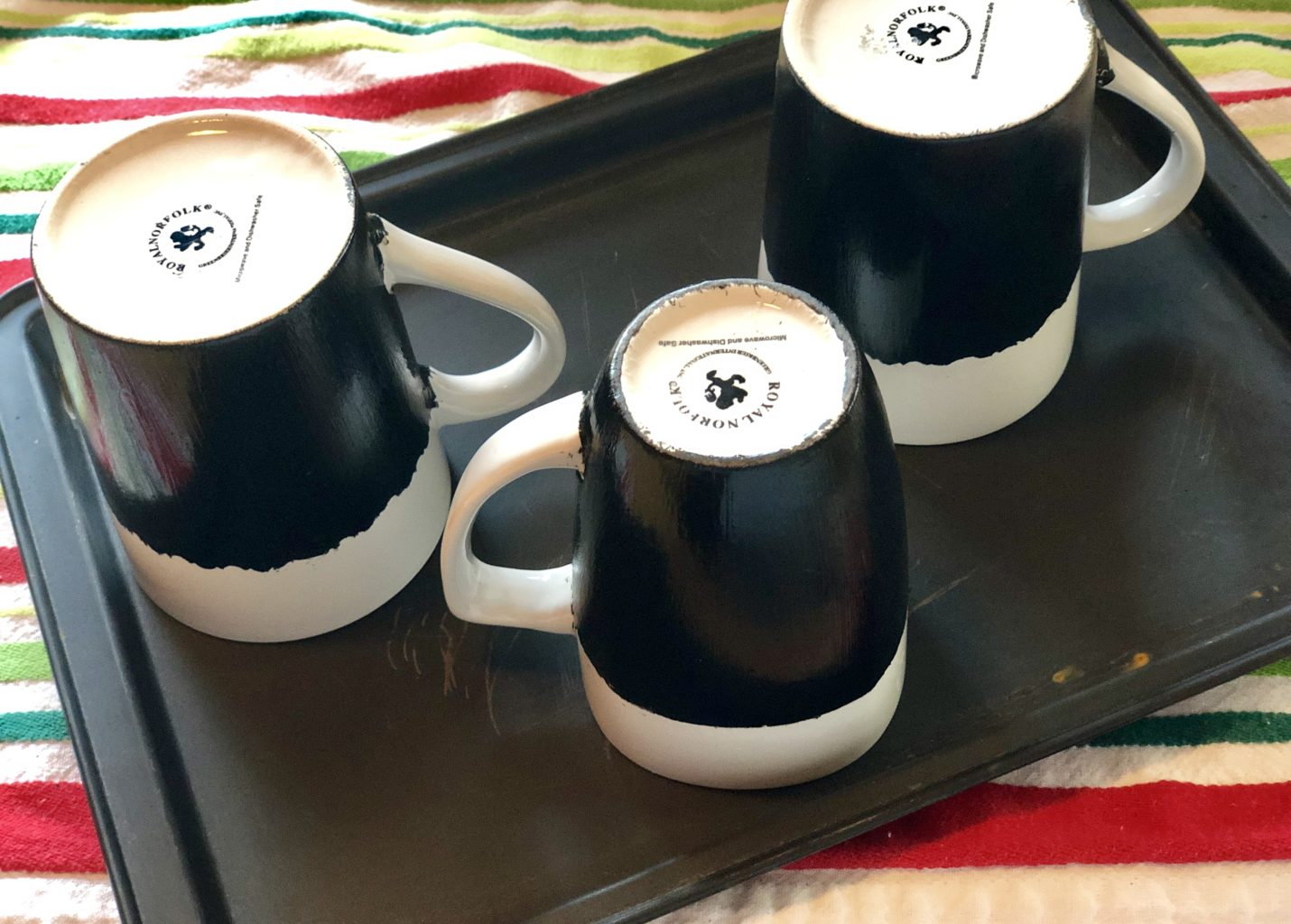Diy Chalkboard Mugs Neverdonewithfun
