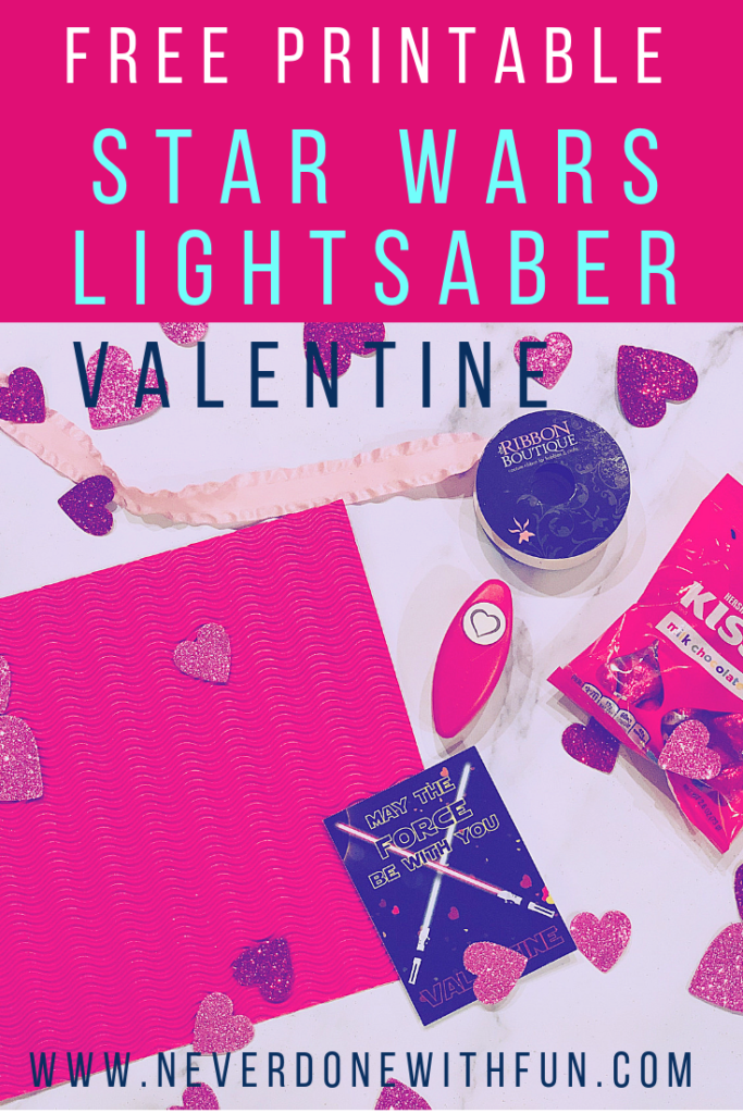 picture about Lightsaber Printable identified as Star Wars Glowstick Valentine Printable #NeverDoneWithFun