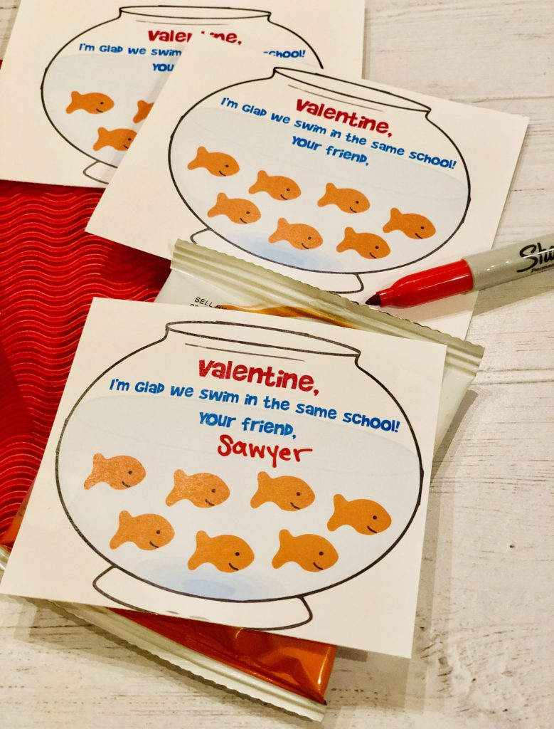 Toddler Goldfish Valentine Printable Neverdonewithfun
