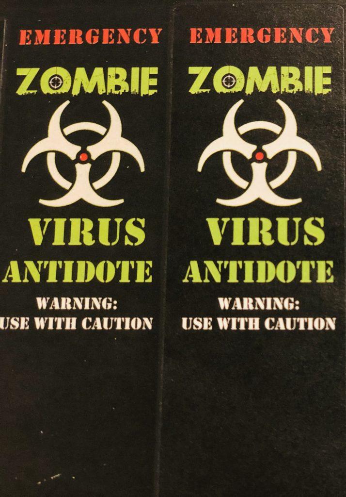 Zombie Antidote Hand Sanitizer Party Favor   #NeverDoneWithFun