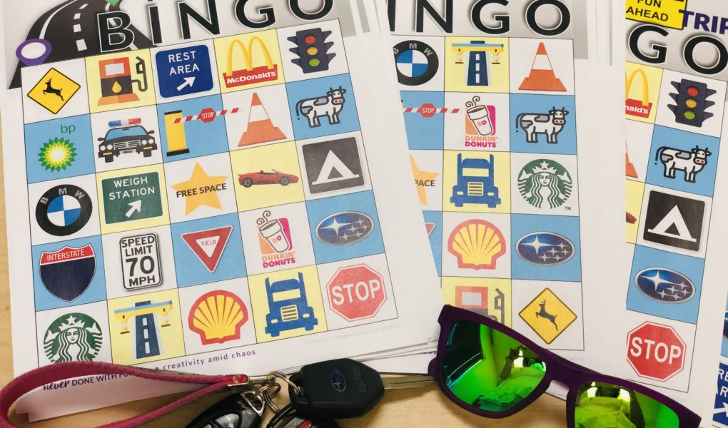 photo about Free Printable Road Signs named Street Holiday vacation Bingo Totally free Printable #NeverDoneWithFun